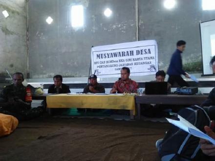 Musyawarah Desa dan Pertanggung jawaban keuangan BUMDes Desa  Wanagiri